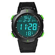 Tectores 2018 Fashion Multifunction Fashion Waterproof Men's Boy LCD Digital Stopwatch Date Rubber Sport Wrist Watch