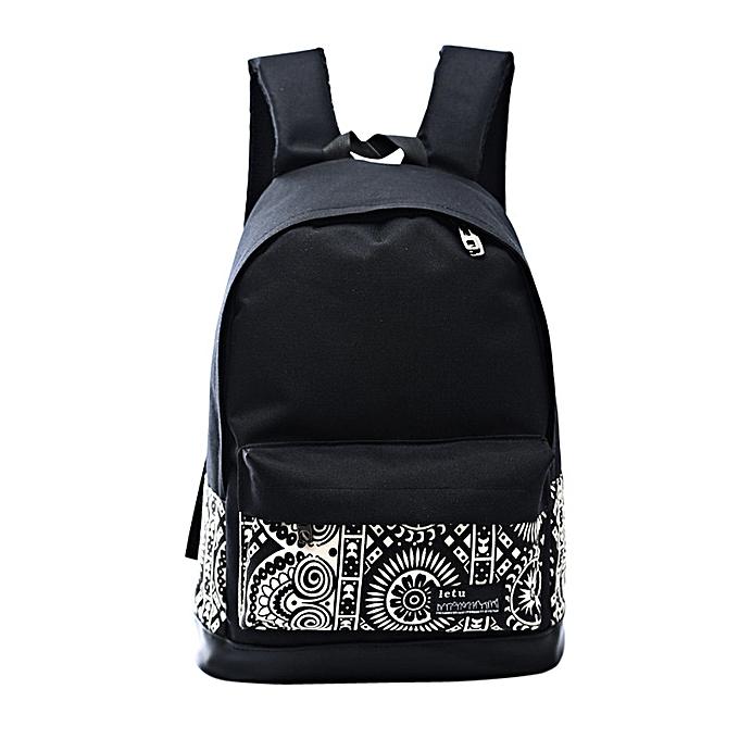 ... Women Teenage Girl Boy Print Zipper Backpack School Bags Fashion  Shoulder Bag ... 54debbc623cca