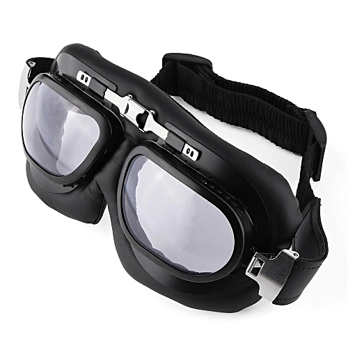 f381b0fee6ed UNIVERSAL Windproof Motorcycle Riding Goggles Retro PC Lens Motorbike Ski  Bike Glasses Motocross Classic Goggles For Harley Cafe Racer Transparent