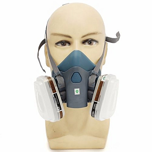 Tool Parts 7502 Silicone Half Facepiece Respirator Gas Mask Use For Cartridges Silicone Top