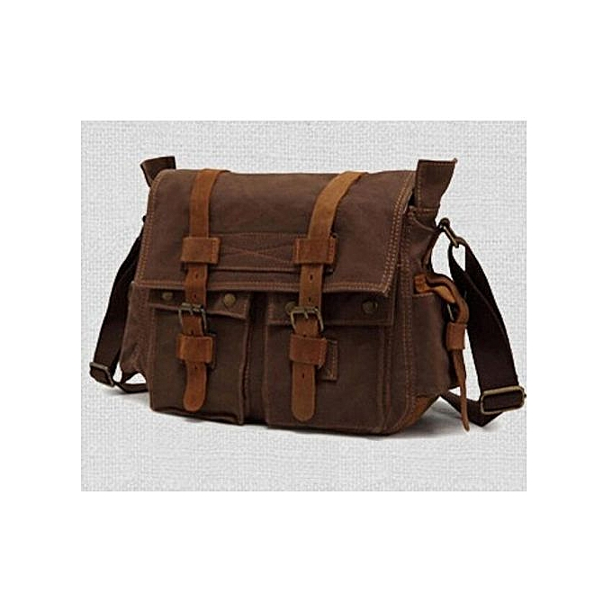 513ea035148f Generic Canvas bag Retro messenger bag Leisure men shoulder Bags ...