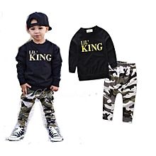 83b89ef8b Comfortable Toddler Kids Baby Boy Letter T Shirt Tops+Camouflage Pants  Outfits Clothes Set.