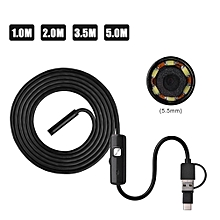 3 In 1 5.5mm Waterproof 6 Led Android USB Endoscope Borescope Inspection Camera (3.5M)