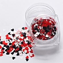 7g Mixed Heart Thin Nail Art Glitter Paillette Nail TipGel Polish Decoration-Multicolor