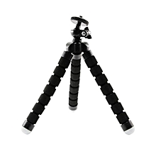 Universal Adjustable Tripod Phone Mount Stand Holders for Camera/ Smartphone-Black