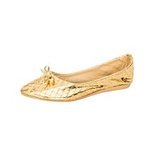 Golden Women's Ballerinas