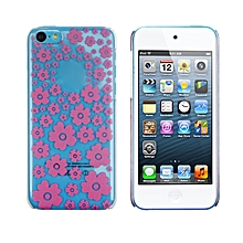 Hot Pink Flower Dance Pattern Clear Hard Case Cover Skin For iphone 5C-Hot Pink