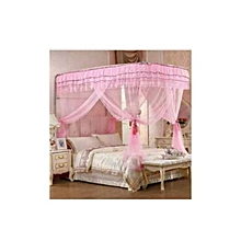 Mosquito Net With 2 Stands - 6X6 - Pink