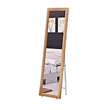 Standing Mirror with Frame - Brown
