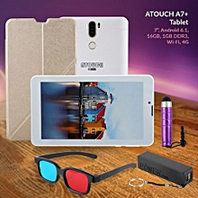 A7+, Tablet 7 Inch,  16GB, 1GB, Wi-Fi, 4G LTE -  White.