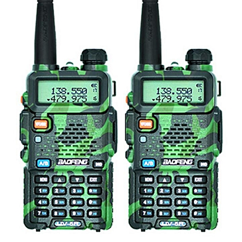 (2 PCS)UV-5R Walkie Talkie Dual Band Two Way Radio Pofung Portable Ham  Radio TransceiverUV5R Handheld Toky Woky