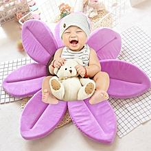Foldable Bathtub Blooming Sink Lotus Flower Bath Mat Pad forborn Baby, Size: 80cm x 80cm x 5cm(Purple)