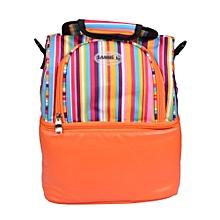 2 Compartment Thermal Insulation/ Cooler Bag -  Orange