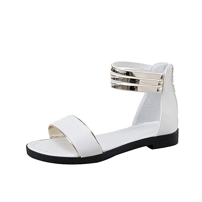 f5b6bce15 Blicool Shop Women Sandals Women s Summer Sandals Shoes Peep-toe Low Shoes  Roman Sandals Ladies