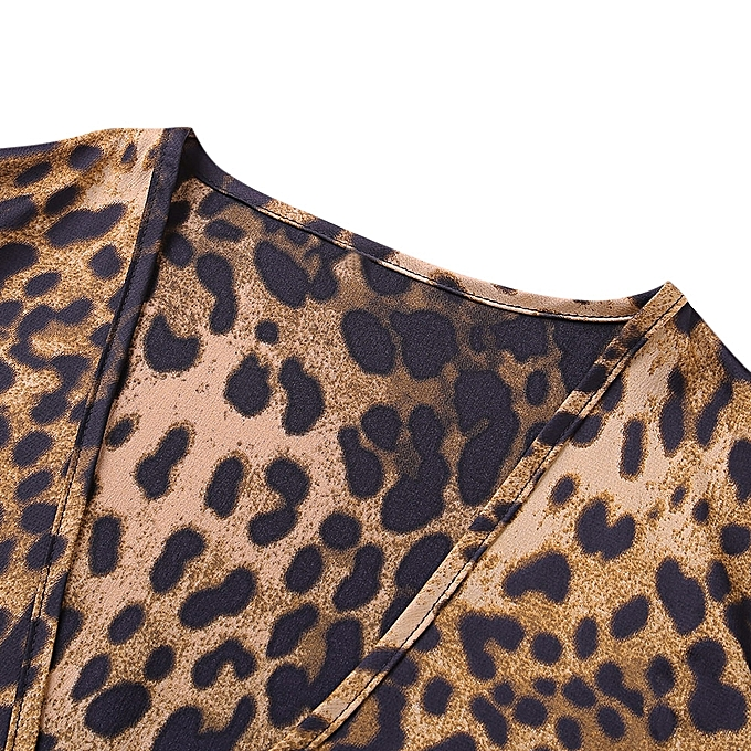 bab456ca12c3 ... Fashion Leadsmart Sexy Jumpsuit Women Long Sleeve Romper V Neck Leopard  Print Overall ...