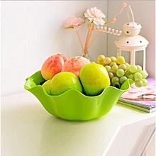 Plastic Fruit Plate Flower Fruit Snacks Plate - Green