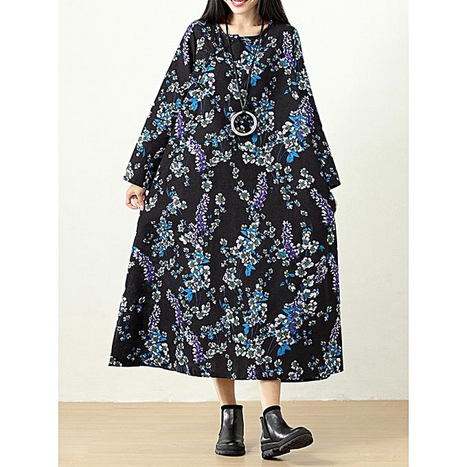 e9e5da5e896 Fashion Plus Size Vintage Women Floral Printed Maxi Dress @ Best ...