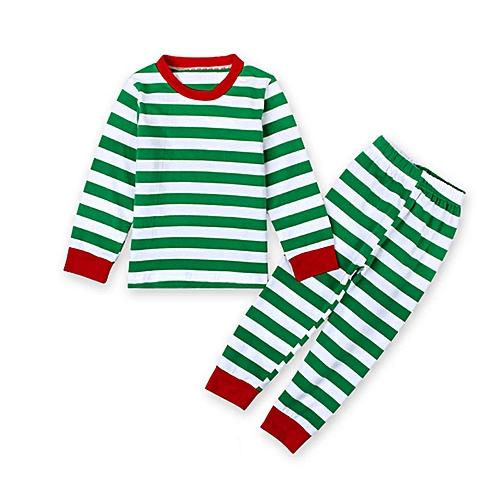 Generic Kids Baby Boys Girls Christmas Striped Sleepwear Nightwear Pajamas  Set Clothes 0052ef946