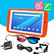 "K89 Kids Tablet - 7"" - 2.0MP Rear - 1.3MP Front - 1GB RAM - 16GB - Android - Orange"