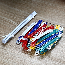 5548 Colorful Plastic Clips 80mm 50PCS - Colormix