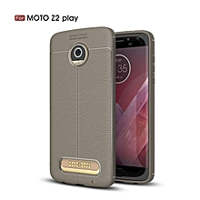 For Motorola MOTO Z2 Play Luxury Soft Silicon Litchi Striae Leather Case For Z2Play Case Coque Shock Proof Back Phone Cover Case