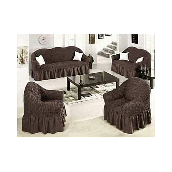 Home Deca Sofa Seat Covers - 3+2+1+1 - Chocolate Brown   Best Price ... a9bd5efb1