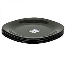 Dinner Plates  6 Pieces + FREE 12 Tablespoons - Black.