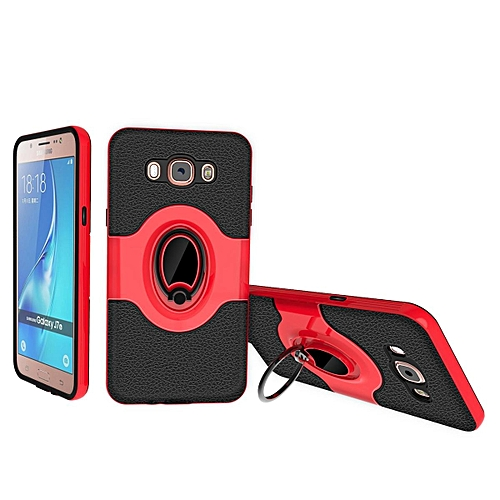 Generic Case For Samsung Galaxy J7 2016 / J710,360 Degree Rotating Ring Kickstand With Magnetic Car Mount Anti-Impact Hybrid Hit Color Protective Case Cover ...