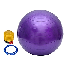 Anti-burst Yoga Ball, Extra Big 75cm Stability Ball, Anti-Burst Balance Exercise Ball with Foot Pump for Body Core Abs Workout,Balance Balls Exercise,Purple