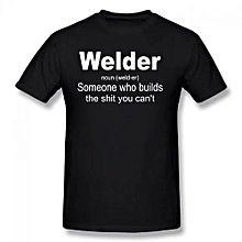 Welder Definition Welding Funny Shirt Summer Basic Casual Short Cotton T-Shirt(Regular And Big And Tall Sizes Included)