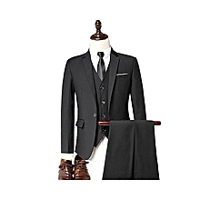 142c7d0009 Spring Men 3-piece Leisure Suit Male Slim Fit Work Set One Cotton Man  Professional