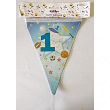 1st birthday banting-1 piece-Blue