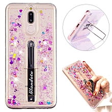 Mate 10 Lite Case Creative Flowing Liquid Glitter Quicksand Scalable Ring Buckle Shock Absorbing With Kickstand Feature Soft Bumper Protective Cover for Huawei Mate 10 Lite- L Kickstand Liquid 2