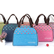 Woman Lady Large Capacity Insulated Cooler Lunch Tote Bag Travel Picnic Food Storage Container