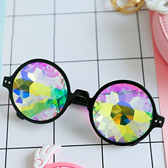 e39a9fe6c47e huskspo Kaleidoscope Glasses Rave Festival Party EDM Sunglasses Diffracted  Lens
