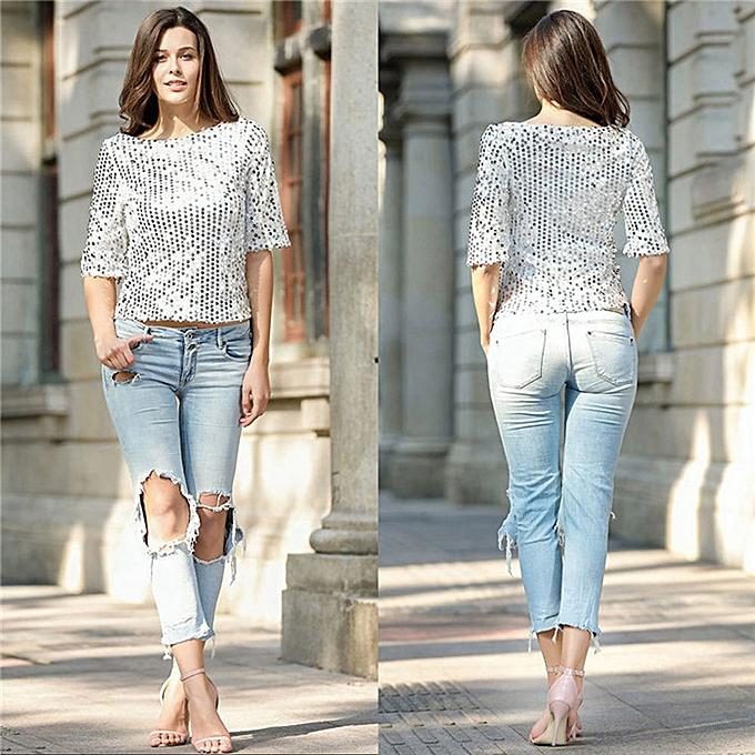 e1825b653556 Generic Summer Fashion Women Short Sleeve Loose Casual T-Shirt Shirt Blouse  Tops Ladies A1