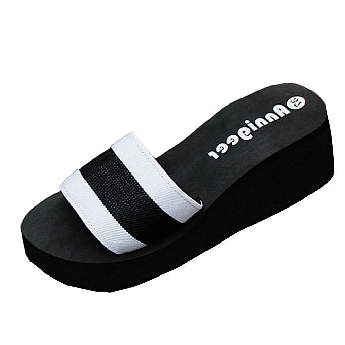 7cc14ba2a14077 birthpar store Women Summer Sandals Slipper Indoor Outdoor Flip-flops Beach  Shoes-White
