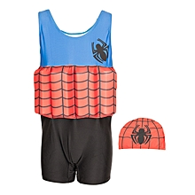 Blue, Red & Black Swimsuit With Removable Floating Foams