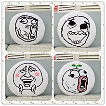 Creative Funny Expression Rage Comic Round Throw Pillow Plush Bed Sofa Car Cushion