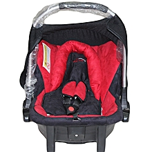 Auto Carry Cot/ Infant Car Seat - Red and Black (Big)