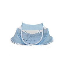 Baby Bubble Cot With Mosquito Net - Sky Blue