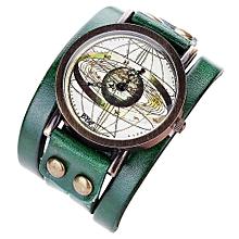 guoaivo CCQ Personality Dial Casual Analog Quartz Bracelet Watch  -Green