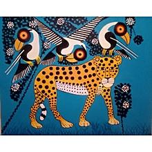 'leopard with three birds' by Simon Kalweo