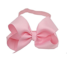 Baby Girls Hair Bands Grosgrain Ribbon Headband With Big Bowknot Decoration Diameter 15cm Color:Pink