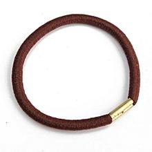 10pcs Girl Elastic Hair Ties Band Rope Ponytail Scrunchie Bracelets Sport Yoga Coffee