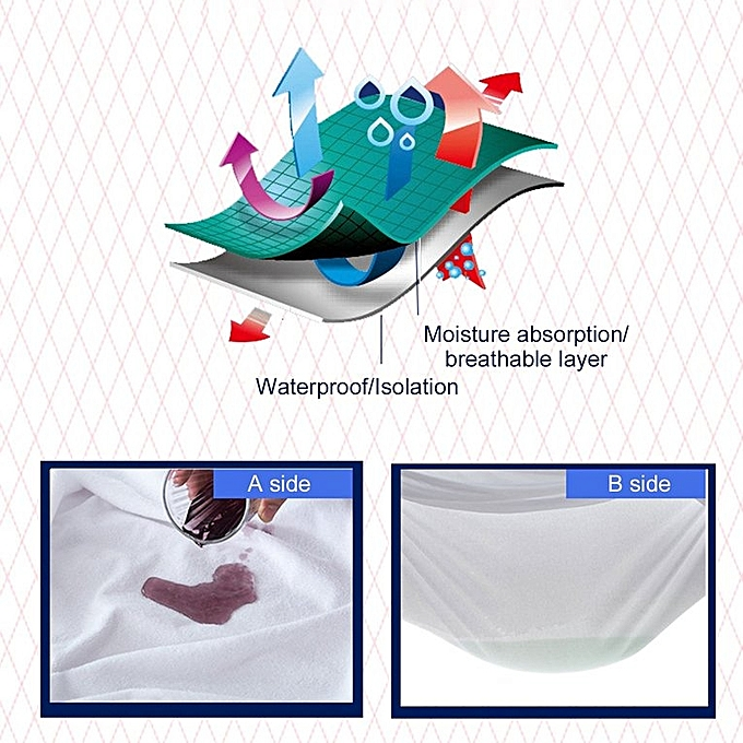 Generic Cotton Matress Cover Solid Color Waterproof Dust