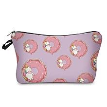 Portable Unicorn Print Cosmetic Bag # 3 - Light Purple