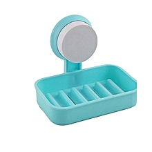 Suction Type - Bathroom Soap Dish - Blue