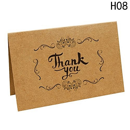 Buy universal 10pcspack brown kraft paper thank you cards thank u 10pcspack brown kraft paper thank you cards thank u greeting card kraft paper envelopes m4hsunfo