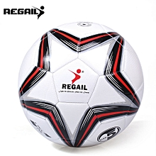 Size 5 PU Star Competition Training Soccer Ball Football-RED WITH BLACK